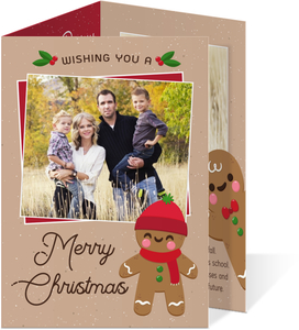 Gingerbread Family Year in Review Christmas Card