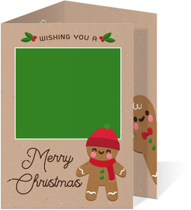 Green and Red Whimsey Holiday Photo Card