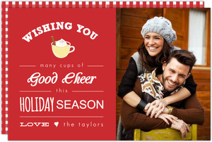 Red Eggnog Holiday Photo Card