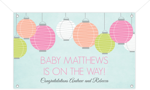 Colorful Lanterns Couples Shower Banner