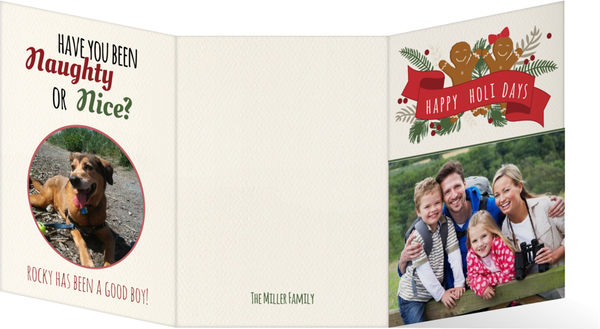 Gingerbread Man Cookie Holiday Trifold