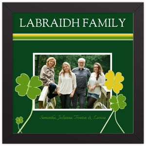 Green & Yellow Clover Family Framed Prints