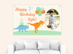 Dinosaur Kids Birthday Party Banner