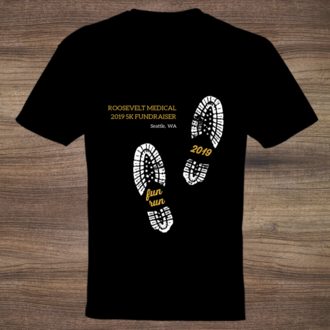 Shoe Prints Fun Run Business T-Shirt