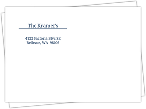 Blue And White Address Label Envelope - 576
