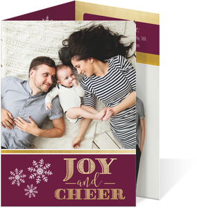 Snowflake Joy and Cheer Holiday Trifold