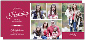Burgundy Photo Holiday Card