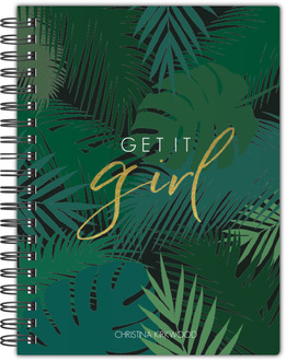 Tropical Get It Girl Custom Notebook 8.5x11