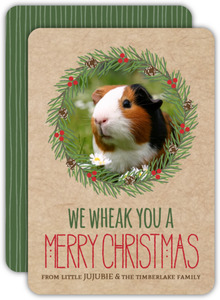 Wheak You a Merry Christmas Pet Photo Card