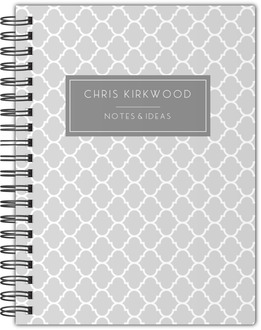 Quatrefoil Pattern Notebook