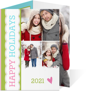 Bright Christmas Tri fold Holiday Photo Card