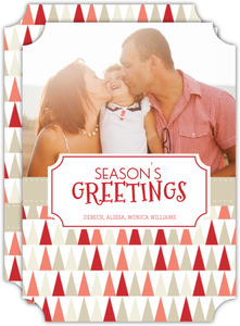 Festive Tree Pattern Holiday Photo Card
