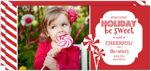 Sweets and Stripes Family Holiday Photo Card