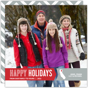 Modern States Banner Holiday Photo Card