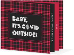 Red Gingham  Holiday Photo Card
