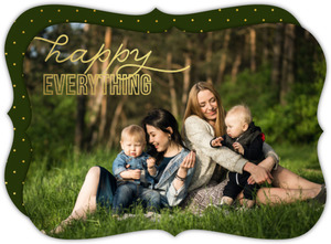 Happy Everything Gold Foil Stamp Photo Holiday Card