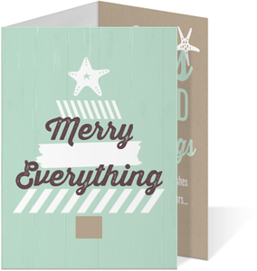 Aqua Beachy Holiday Photo Card
