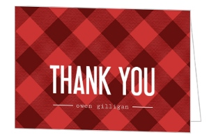 Buffalo Check Pattern Thank You Card