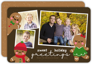Sweet Holiday Greetings Photo Christmas Card