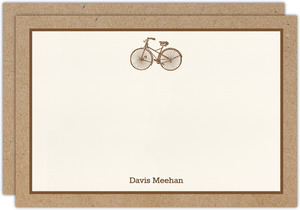 Kraft Bicycle Notecard