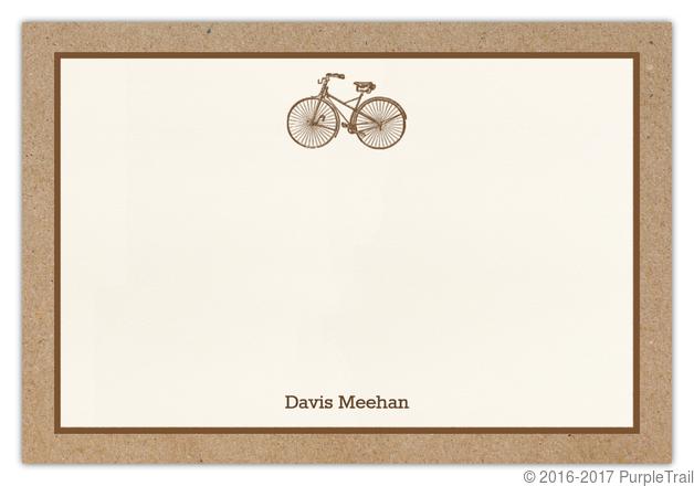 Kraft Bicycle Notecard
