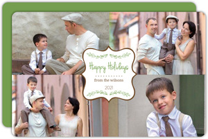 Four Photo Chic Holiday Photo Card