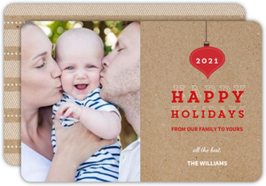 Sweet Red Holiday Photo Card