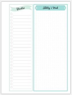 Dotted Checklist Pages