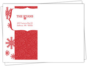 Red Snowflake Holiday Envelopes