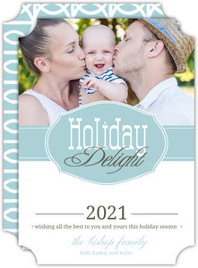 Retro Style Holiday Photo Card