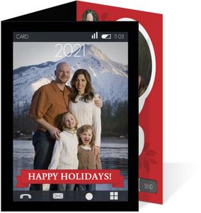 Smart Phone Family Holiday Photo Card
