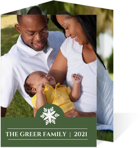 Classic Snowflake Holiday Photo Card