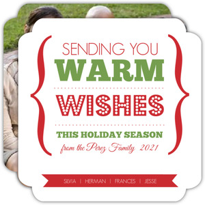 Red and Green Warm Wishes Holiday Card