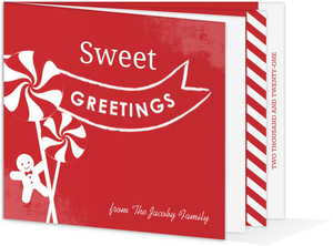 Candy Cane Recipe Holiday Card