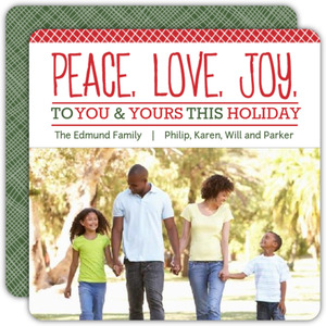 Red and White Holiday Photo Card