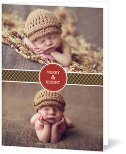 Gift Wrapped Joy Holiday Photo Card