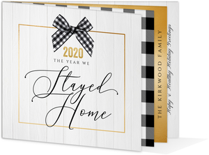 Stayed Home Holiday Booklet Card