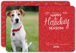 Dog Greetings Holiday Photo Card