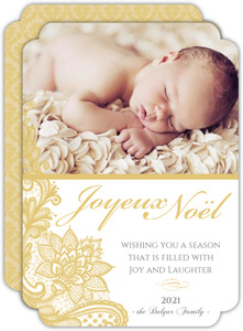 Elegant Gold Holiday Photo Card