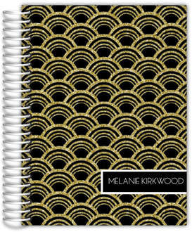 Gold Glitter Art Deco Custom Mom Planner
