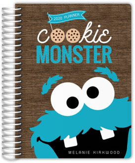 Blue Cookie Monster Mom Planner