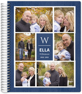 Faux Denim Photo Grid Mom Planner