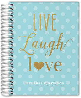 Faux Glitter Live Laugh Love Mom Planner