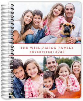 Simple Photo Collage Custom Family Planner