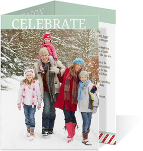 Celebrate the Season Tri fold Holiday Photo Card