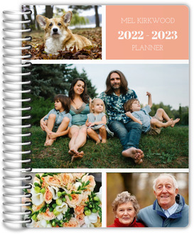 Grid Photo Collage Personalized Mom Planner