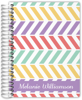 Colorful Pastel Pattern Custom Family Planner