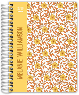 Yellow & Orange Floral Pattern Custom Mom Planner