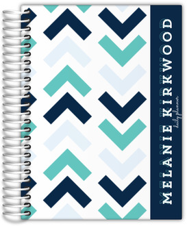 Aquah Navy Chevron Mom Planner