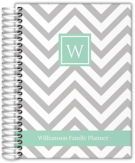 Simply Chevron Custom Family Mom Planner